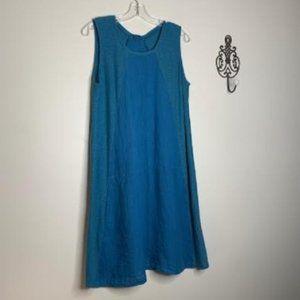 Cut Loose Linen/Cotton Paneled Comfort Dress Sz S